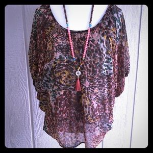 PLEIONE Beautiful Boho Style Blouse